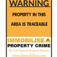 Large IMMOBILISE weatherproof plastic sign