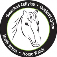 "6"" Horsewatch logo stickers x 2"