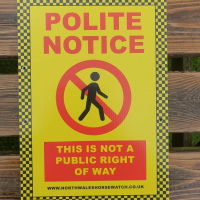 Polite notice - Not a public RoW