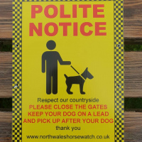 Polite notice (please close the gates